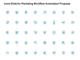 Icons Slide For Marketing Workflow Automation Proposal Ppt Powerpoint Presentation Background
