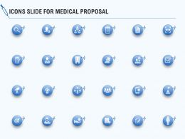 Icons Slide For Medical Proposal Ppt Powerpoint Presentation Professional Slide