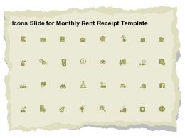 Icons Slide For Monthly Rent Receipt Template Ppt Powerpoint Visual Aids Portfolio