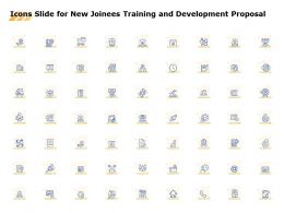 Icons Slide For New Joinees Training And Development Proposal Ppt Powerpoint Deck