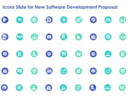 Icons Slide For New Software Development Proposal Ppt Powerpoint Presentation Visual Aids Summary