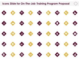 Icons Slide For On The Job Training Program Proposal Ppt Inspiration