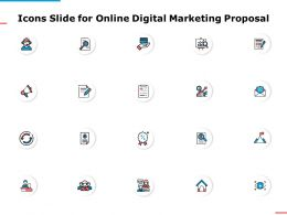 Icons Slide For Online Digital Marketing Proposal Ppt Powerpoint Presentation Summary Maker
