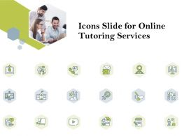 Icons Slide For Online Tutoring Services Ppt Powerpoint Presentation Gallery Outfit