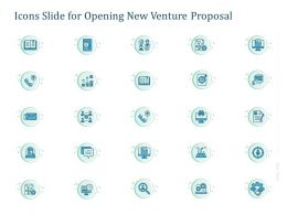 Icons Slide For Opening New Venture Proposal Ppt Powerpoint Presentation Background
