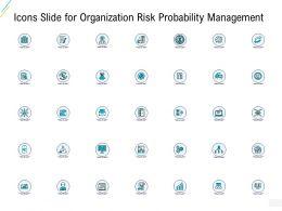 Icons Slide For Organization Risk Probability Management Ppt Powerpoint Slideshow