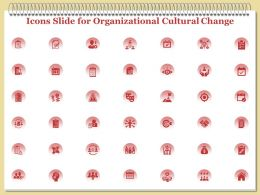 Icons Slide For Organizational Cultural Change Ppt Powerpoint Presentation Professional Summary