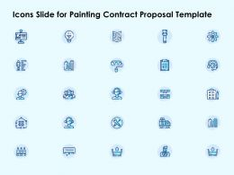 Icons Slide For Painting Contract Proposal Template Ppt Powerpoint Template