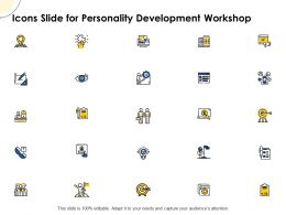 Icons Slide For Personality Development Workshop Ppt Powerpoint Grid Shapes