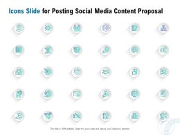 Icons Slide For Posting Social Media Content Proposal Ppt Powerpoint Presentation Visuals