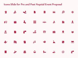 Icons Slide For Pre And Post Nuptial Event Proposal Ppt File Display