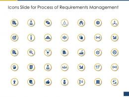 Icons Slide For Process Of Requirements Management Ppt Introduction