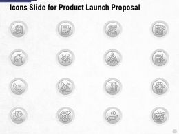 Icons Slide For Product Launch Proposal Ppt Powerpoint Presentation Summary Slideshow