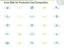 Icons Slide For Production Cost Composition Ppt Powerpoint Presentation Styles Influencers