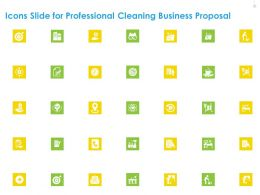 Icons Slide For Professional Cleaning Business Proposal Ppt Clipart