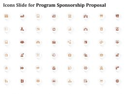 Icons Slide For Program Sponsorship Proposal Ppt Powerpoint Presentation Good