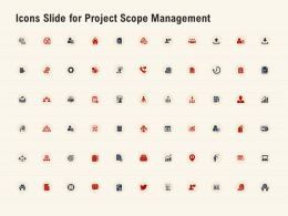 Icons Slide For Project Scope Management Ppt Powerpoint Presentation Image