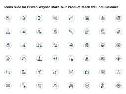 Icons Slide For Proven Ways To Make Your Product Reach The End Customer Ppt Powerpoint File