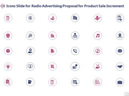 Icons Slide For Radio Advertising Proposal For Product Sale Increment Ppt Powerpoint Presentation Icon