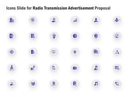 Icons Slide For Radio Transmission Advertisement Proposal Ppt Gallery