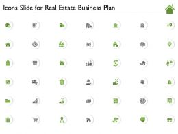 Icons Slide For Real Estate Business Plan Ppt Powerpoint Presentation Outline Backgrounds
