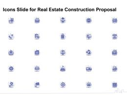 Icons Slide For Real Estate Construction Proposal Ppt Powerpoint Presentation Model File Formats