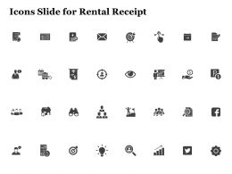 Icons Slide For Rental Receipt Ppt Powerpoint Presentation Layouts Layout