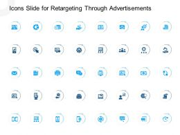 Icons Slide For Retargeting Through Advertisements Powerpoint Presentation Pictures