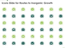Icons Slide For Routes To Inorganic Growth Ppt Clipart