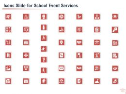 Icons Slide For School Event Services Ppt Powerpoint Presentation Slides Template