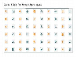 Icons Slide For Scope Statement Ppt Powerpoint Presentation Icon Background Images