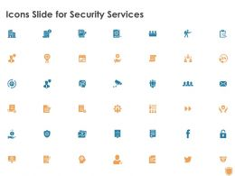 Icons Slide For Security Services Ppt Powerpoint Presentation Infographics Display