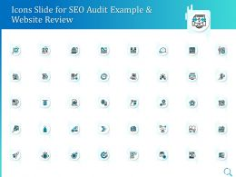 Icons Slide For SEO Audit Example And Website Review Ppt Powerpoint Infographics