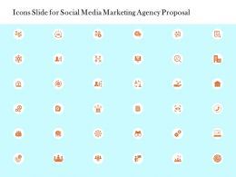 Icons Slide For Social Media Marketing Agency Proposal Ppt Powerpoint Presentation Layouts