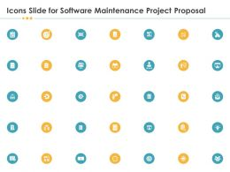 Icons Slide For Software Maintenance Project Proposal Ppt File Brochure