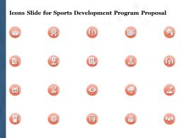 Icons Slide For Sports Development Program Proposal Ppt Powerpoint Presentation Shapes