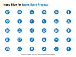 Icons Slide For Sports Event Proposal Ppt Powerpoint Presentation Gallery Skills