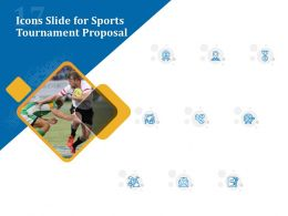 Icons Slide For Sports Tournament Proposal Ppt Powerpoint Presentation Visual