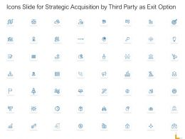 Icons Slide For Strategic Acquisition By Third Party As Exit Option Ppt Powerpoint Professional