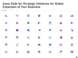 Icons Slide For Strategic Initiatives For Global Expansion Of Your Business Ppt Inspiration