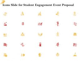 Icons Slide For Student Engagement Event Proposal Ppt Powerpoint Presentation Tips