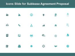 Icons Slide For Sublease Agreement Proposal Ppt Powerpoint Presentation Slides