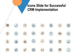 Icons Slide For Successful CRM Implementation Ppt Powerpoint Presentation File