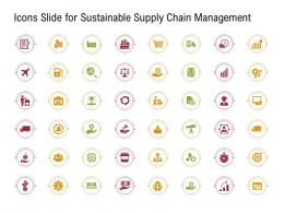 Icons Slide For Sustainable Supply Chain Management Ppt Diagrams