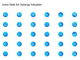 Icons Slide For Synergy Valuation Ppt Powerpoint Presentation Icon Smartart