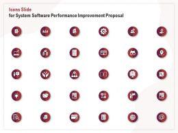 Icons Slide For System Software Performance Improvement Proposal Ppt File Slides