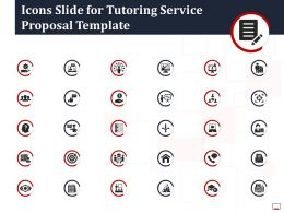 Icons Slide For Tutoring Service Proposal Template Ppt Powerpoint Samples