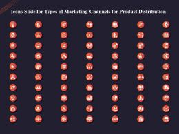 Icons Slide For Types Of Marketing Channels For Product Distribution Ppt Powerpoint Slides