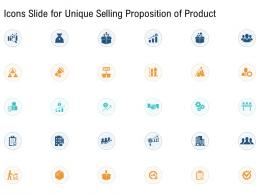Icons Slide For Unique Selling Proposition Of Product Ppt Brochure