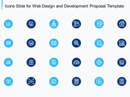 Icons Slide For Web Design And Development Proposal Template Ppt Powerpoint Presentation Slide